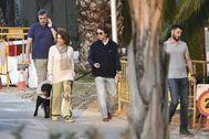 José María Aznar y Ana Botella, el viernes en Marbella