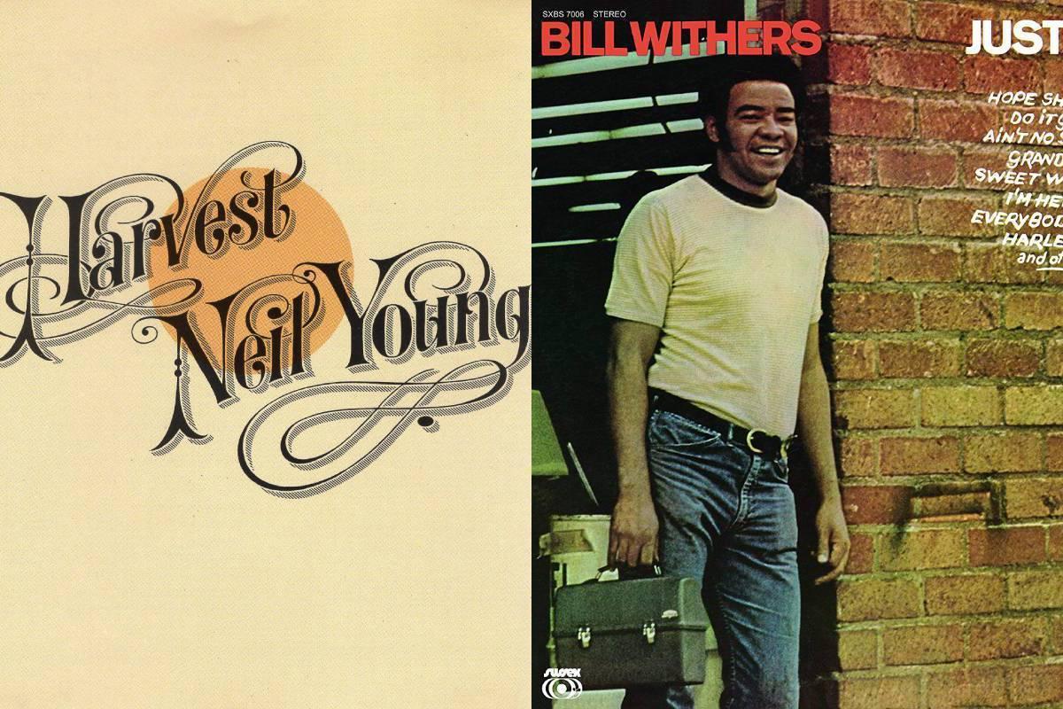 'Harvest' de Neil Young y 'Just as I am' de Bill Withers, dos clásicos de principios de los años 70.