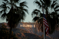 FILE PHOTO: Morning sun rise on the lt;HIT gt;Hollywood lt;/HIT gt; sign in Los Angeles, California