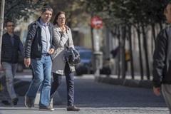 Trapero y una amiga de la dirección de los Mossos, el martes en Madrid.