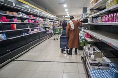 14703/2020 Madrid. Comunidad de Madrid Supermercado lt;HIT gt;Mercadona lt;/HIT gt; en Lucero, Madrid. Coronavirus