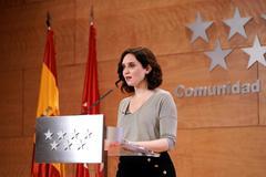 La presidenta de la Comunidad de Madrid, Isabel Díaz Ayuso, en una comparecencia reciente.