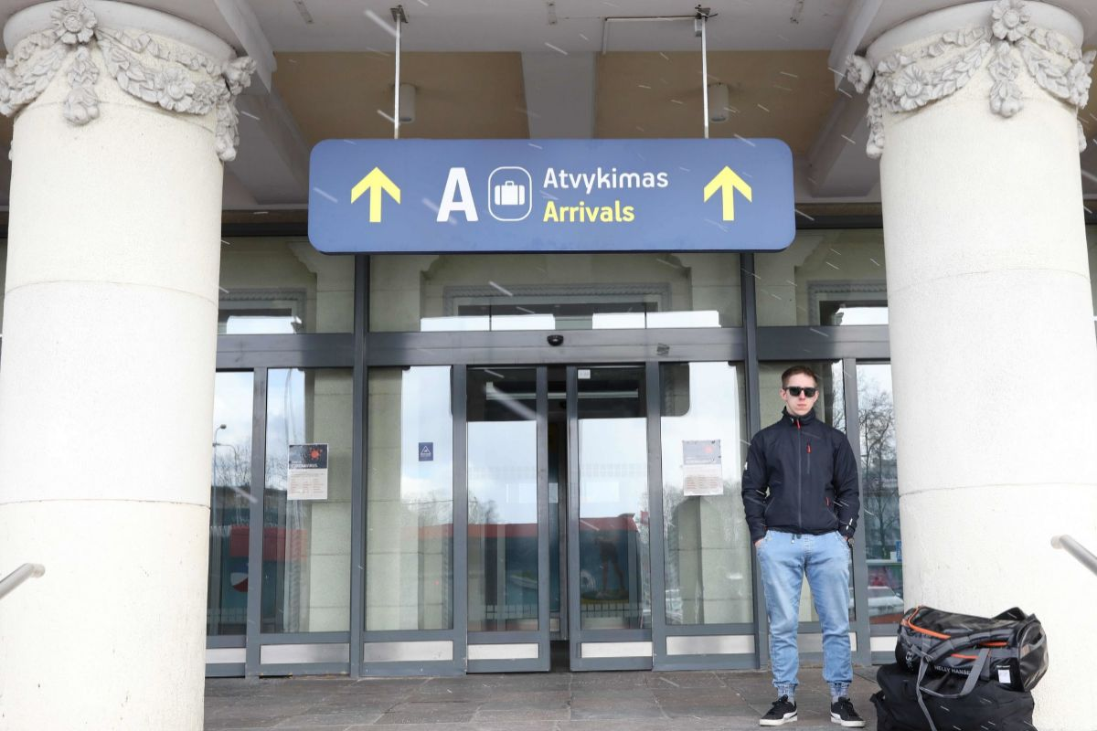 El aeropuerto de Vilna, en Lituania.