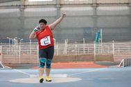 Gong Lijiao, en la competición de este domingo.