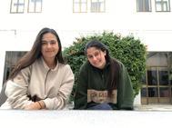 Daniela Gómez y su compañera de residencia en Sevilla