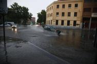 Inundaciones en Carabanchel, Madrid.