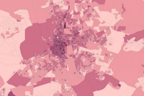 Vea calle a calle cuántos hogares hay en España con una sola persona