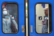 Usuarios del Metro de Madrid.