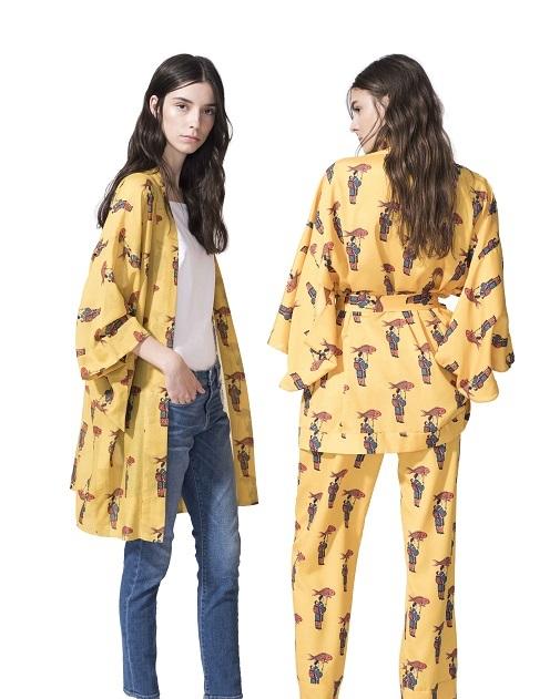 Chaquetilla de seda estilo kimono y pijama completo, de la colección de Sofia de Betak para Luxury Collection. DR.