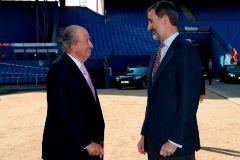 Don Juan Carlos y Felipe VI, en una imagen tomada en junio de 2018.