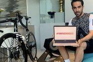 Alberto Contador, en una imagen de su iniciativa.