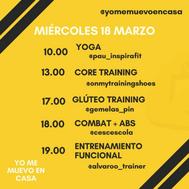 #yomemuevoencasa: yoga con Paula Butragueño y glúteos de acero con las Gemelas Pin