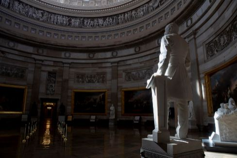 Washington (United States).- The lt;HIT gt;Capitol lt;/HIT gt; Rotunda is seen empty on lt;HIT gt;Capitol lt;/HIT gt; Hill in Washington, DC, USA, 16 March 2020. The US lt;HIT gt;Capitol lt;/HIT gt; is closed to members of the public in order to prevent the spread of the coronavirus SARS-CoV-2, which causes the Covid-19 disease. (Estados Unidos) EPA/