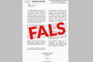 Comunicado falso que ha detectado la Conselleria de Educación de la Generalitat Valenciana.