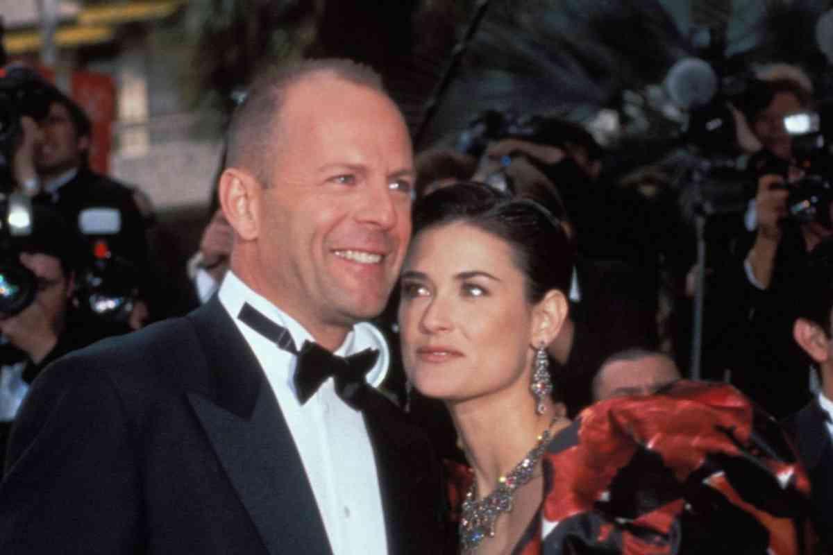 Willis, con su entonces esposa, Demi Moore, en los años 90.