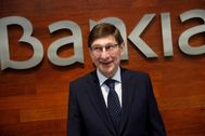 El presidente de Bankia, José Ignacio Goirigolzarri, durante la última presentación de resultados del banco.