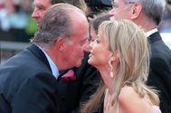 El rey Juan Carlos I con Corinna Larsen en una imagen de archivo.