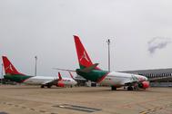 Aviones acogidos en el aeropuerto de Castellón.