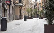 Una calle de Palma, vacía durante el Estado de Alarma.