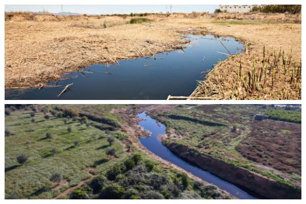El antes y el después del Barranco del Poyo tras el 'Proyecto Cañaveral'