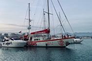 La plantilla del Open Arms está confinada en el barco atracado en el puerto de Burriana.