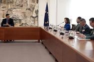 Pedro Sánchez preside la reunión del Comité de Gestión Técnica del coronavirus.