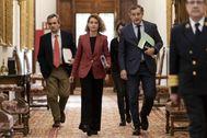 La presidenta del Congreso, Meritxell Batet, al salir la pasada semana de la Junta de Portavoces.