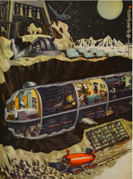 '¿Cómo sería una estación espacial en la Luna?'