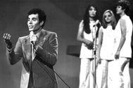 Iglesias, en su actuación en Eurovisión 1970, en Ámsterdam.