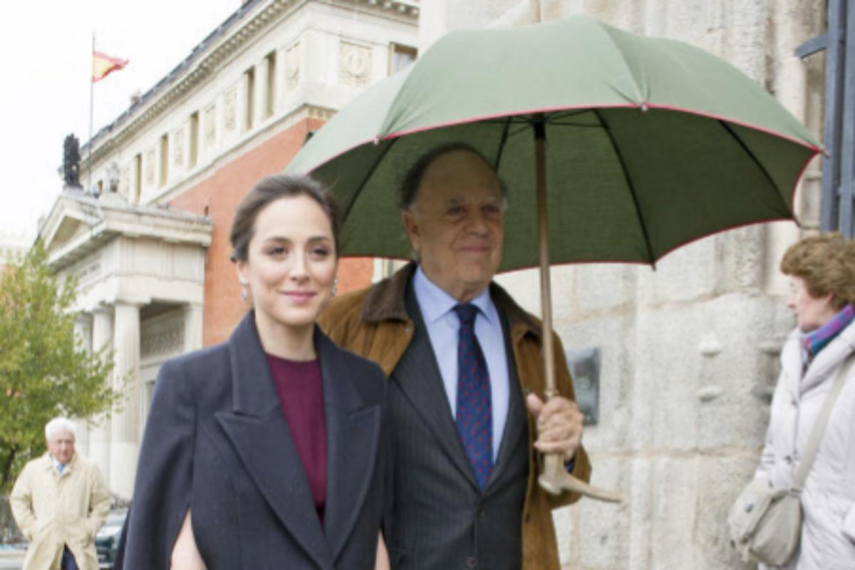 El marqués de Griñón y su hija Tamara.