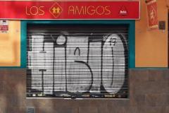 Facha del Bar Los Amigos en la calle de Las Conchas de Madrid.