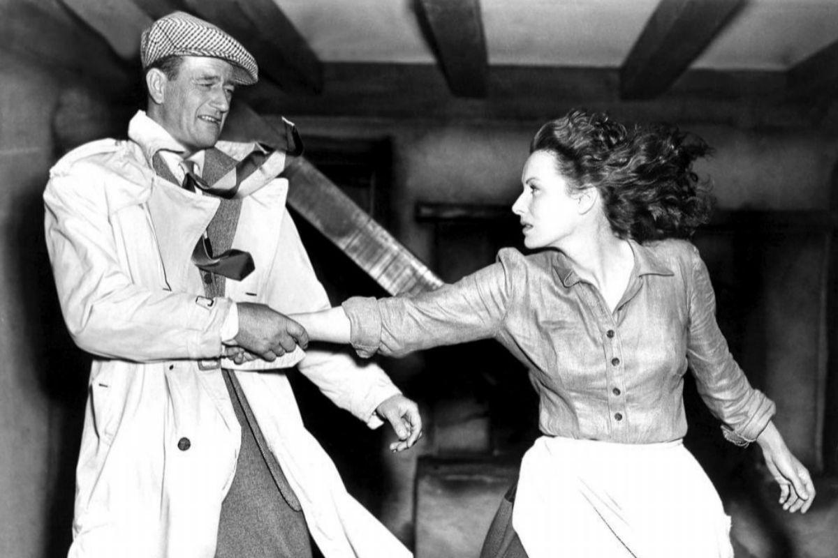 John Wayne y Maureen o'Hara en un momento de 'El hombre tranquilo'.