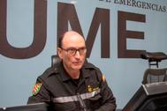 """Luis Martínez Meijide, jefe de la UME: """"Nosotros no entendemos de CCAA, entendemos de localidades y de gente"""""""