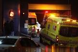 Llegada de numerosas ambulancias con pacientes al Hospital madrileño Ramón y Cajal.