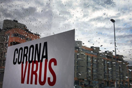Bloque de viviendas en Madrid durante la crisis del coronavirus.