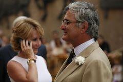 Aguirre y su marido durante un acto en El Escorial.