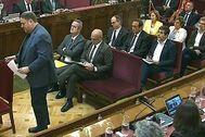 Los líderes del procés durante el juicio del 1-O en el Tribunal Supremo