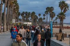 Una playa de California minutos después de que el gobernador Gavin Newson ordenase el confinamiento, este fin de semana.