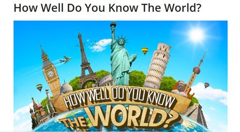 Portal de How well do you know the world.