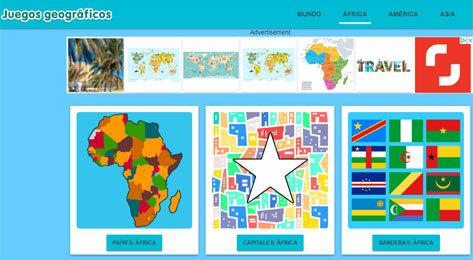 El portal viajero de Juegos geográficos.