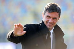Frosinone (Italy).- (FILE) - Milan's sports director Paolo lt;HIT gt;Maldini lt;/HIT gt; gestures before the Italian Serie A soccer match between Frosinone Calcio and A.C. Milan at Benito Stirpe stadium in Frosinone, Italy, 26 December 2018 (reissued 21 March 2020). According to a statement by AC Milan, Milan's sports director, former ITalian defender Paolo lt;HIT gt;Maldini lt;/HIT gt; and his son Daniel, who plays for the same club, tested positive for the COVID-19 coronavirus. (Italia) EPA/ *** Local Caption *** 54860715