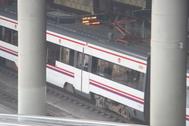 Tren de Cercanías en la estación de Castellón.