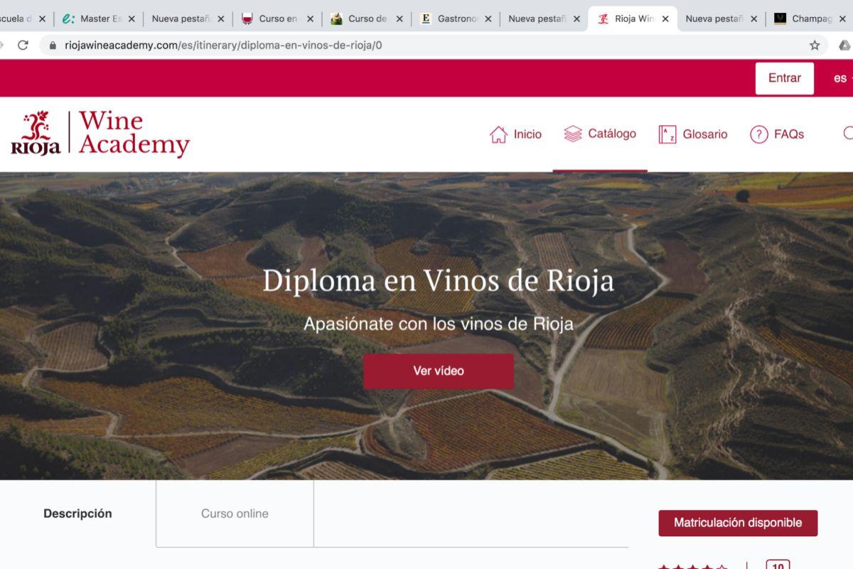 Impartido por Rioja Wine Academy, el curso ofrece un temario ambicioso, catas y una evaluación final.