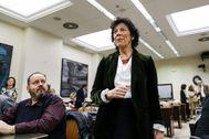 Isabel Celaá, en el Congreso.