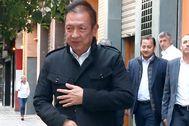 El dueño del Valencia, Peter Lim, en uno de sus últimos viajes a Valencia.