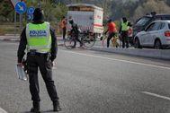 Controles policiales en Igualada
