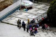 Asentamiento ilegal en el centro de Madrid en plena cuarentena por el coronavirus