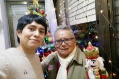Luis Fernando con su padre en una foto tomada en la pasada Navidad