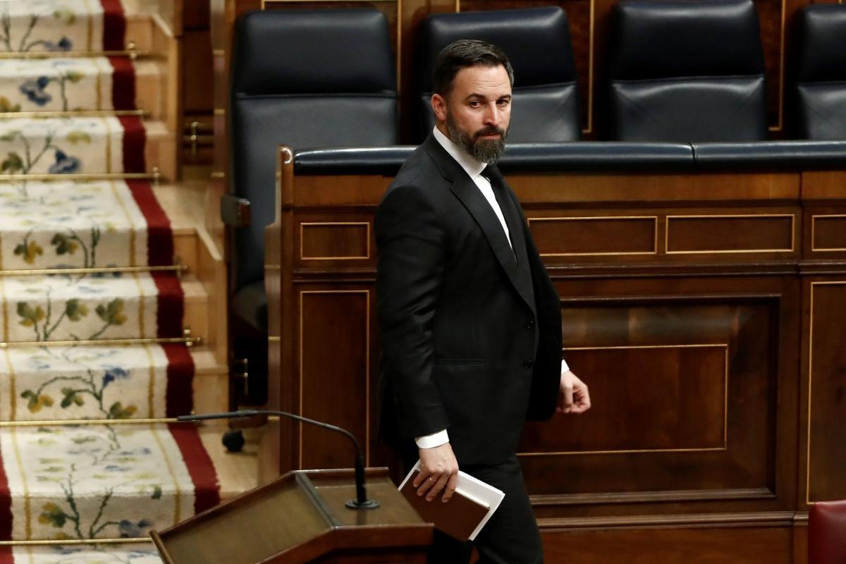 El presidente de Vox, Santiago Abascal, este mi