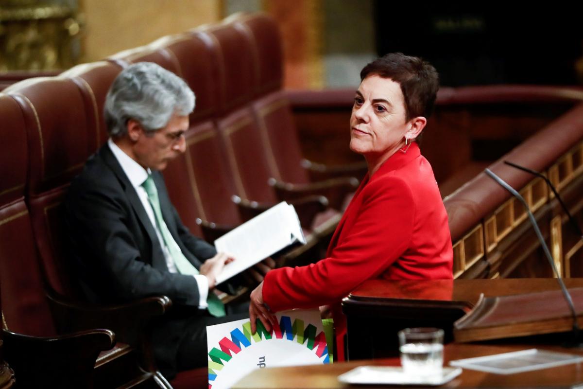 La portavoz de EH Bildu en el Congreso, Mertxe Aizpurua, este mi